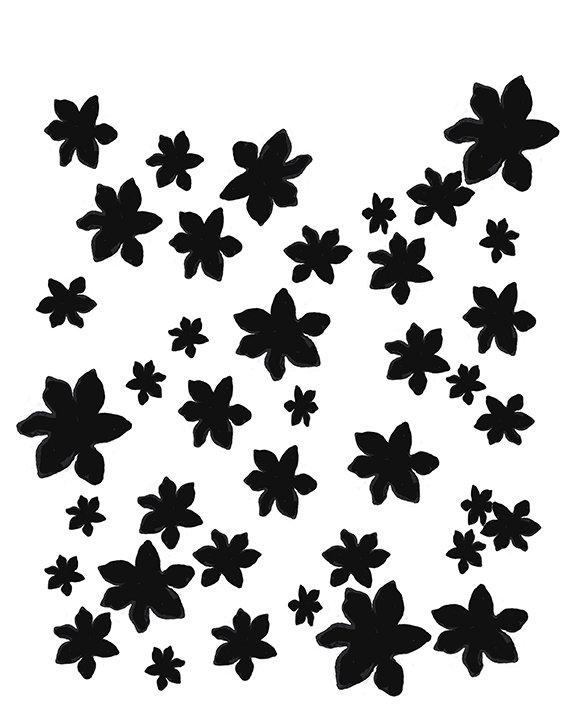 Flower Garden 8x10 stencil