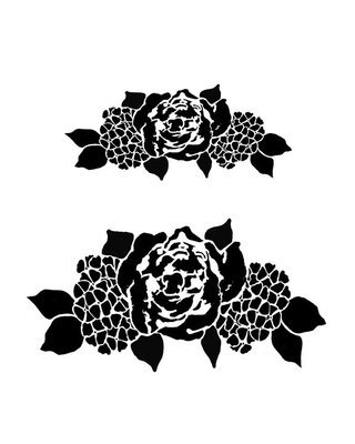 Flower spray stencil