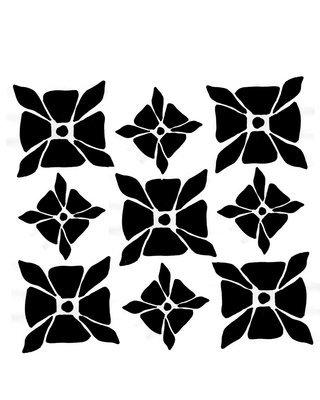 Greek motif stencil