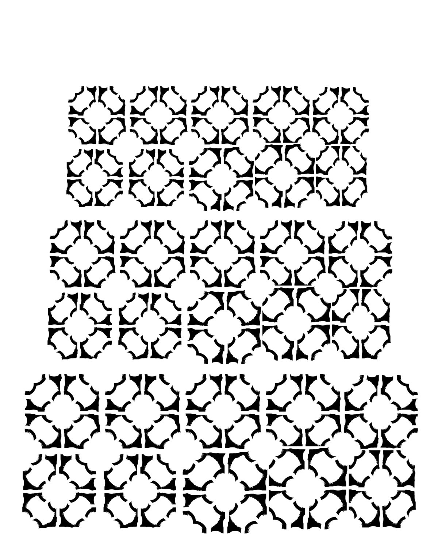 Tiles 8x10 stencil