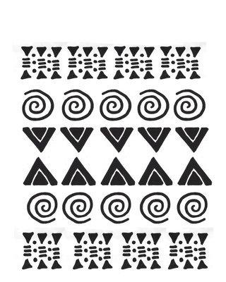 Tribal stencil