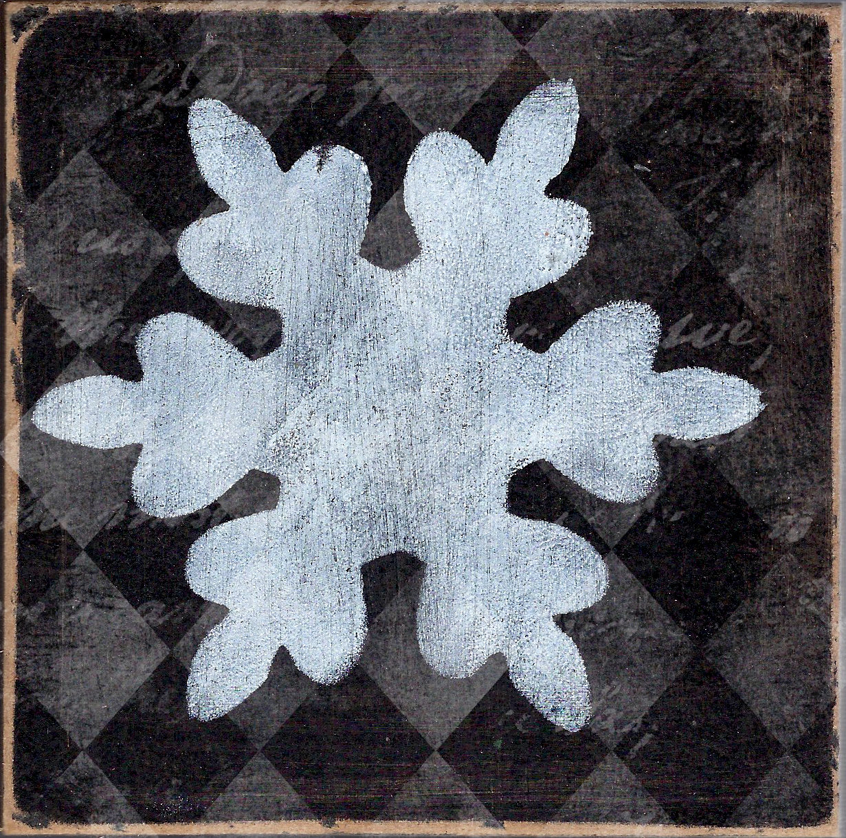 Black and white original Snowflake 2 4x4