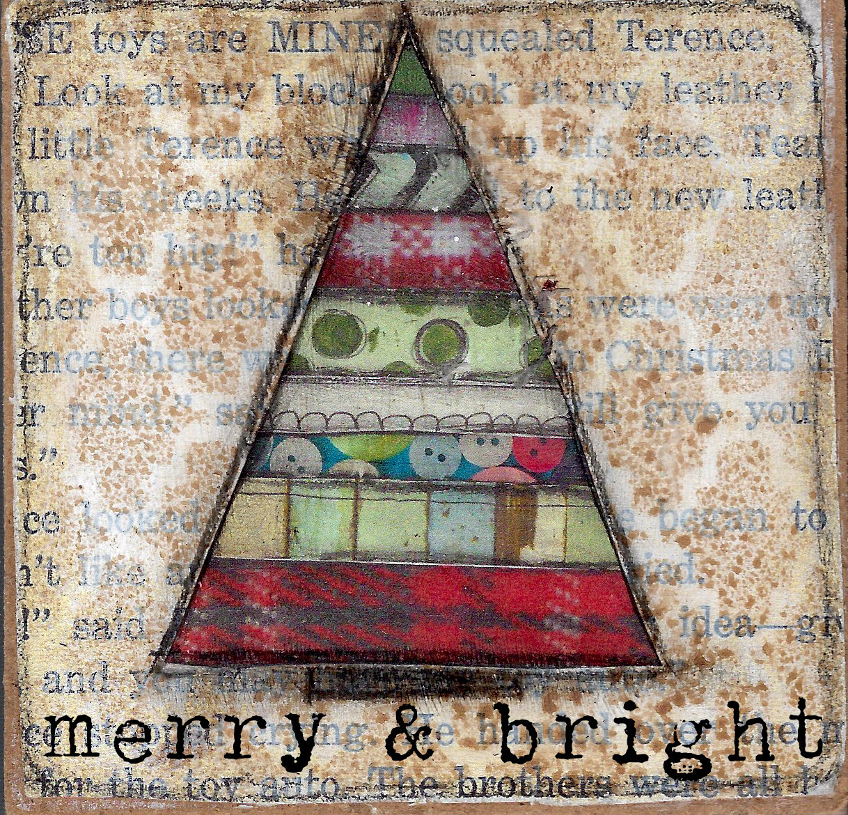 """Merry & Bright"" Print on Wood and Print to be Framed"