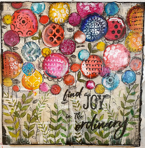 """""""Find joy in the Ordinary"""" print of the original on wood"""
