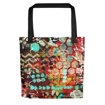Tote bag bright abstract design