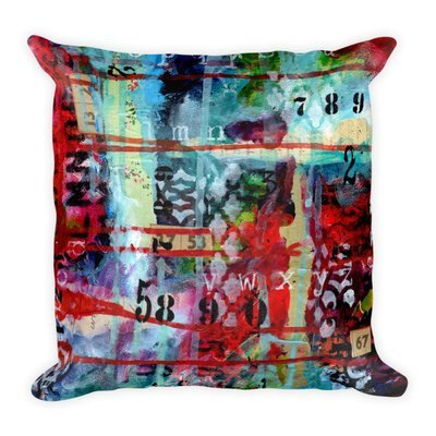 Square Pillow bright abstract 2