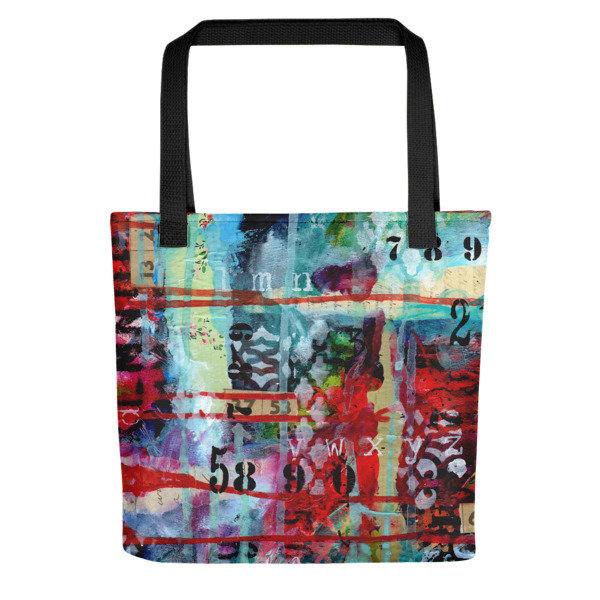 Tote bag bright abstract 2