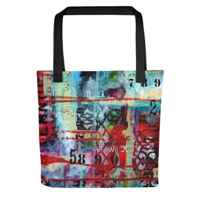 Tote bag bright abstract 2