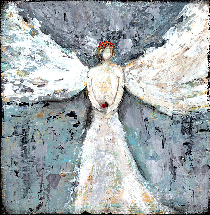 Angel guiding you 12x12 Original