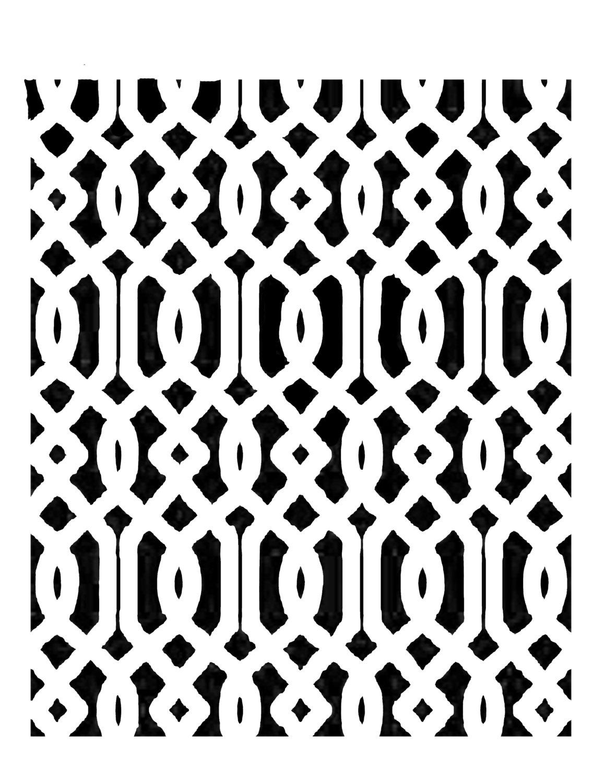 European Lines stencil