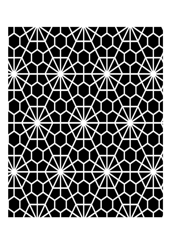 Geometric flower stencil