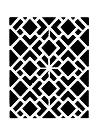 Geometric squares stencil