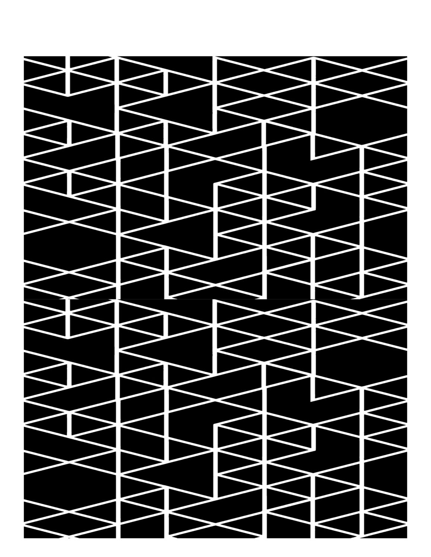 geometric triangles stencil