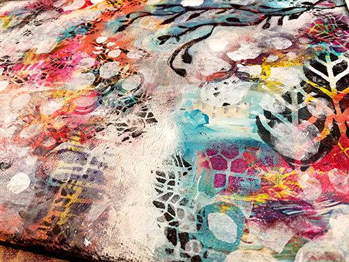 Free mixed media original 12x18