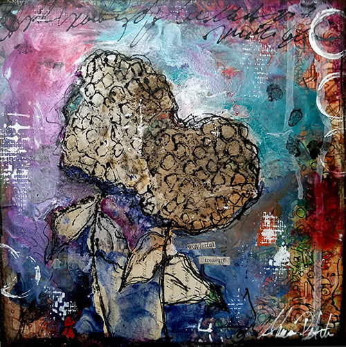 "Poetry of the Earth Series ""Wonderful treasure"" 8x8 original"