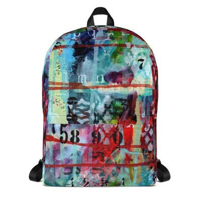 Backpack - bright abstract 2