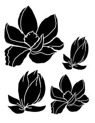 Magnolias stencil