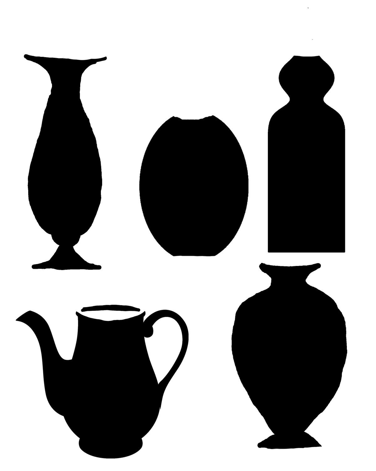 vases 1 with masks stencil