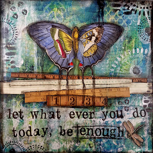 """Let whatever you do be Enough"" Print on Wood and Print to be Framed"
