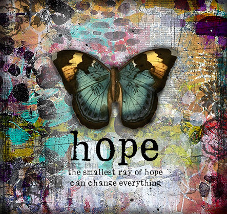 """Hope the smallest ray of Hope"" Print on Wood and Print to be Framed"