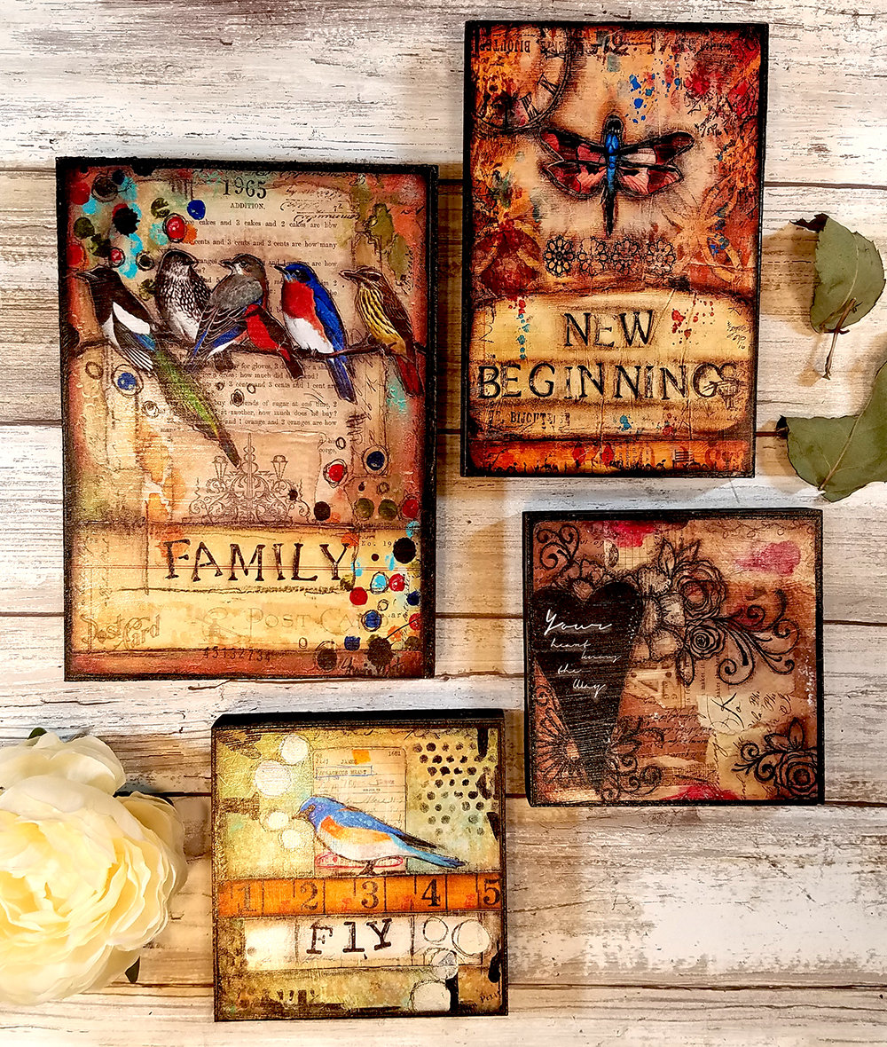 Monday's Birthday week free prints on wood grouping