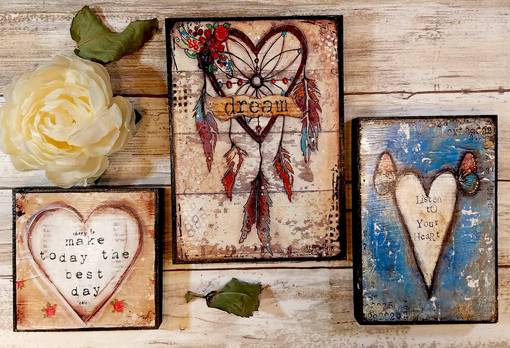 Monday's Free to you for Birthday Week this grouping of prints on wood