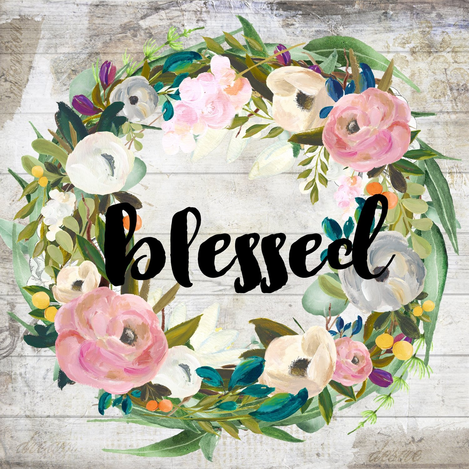 """Blessed"" muted flowers"