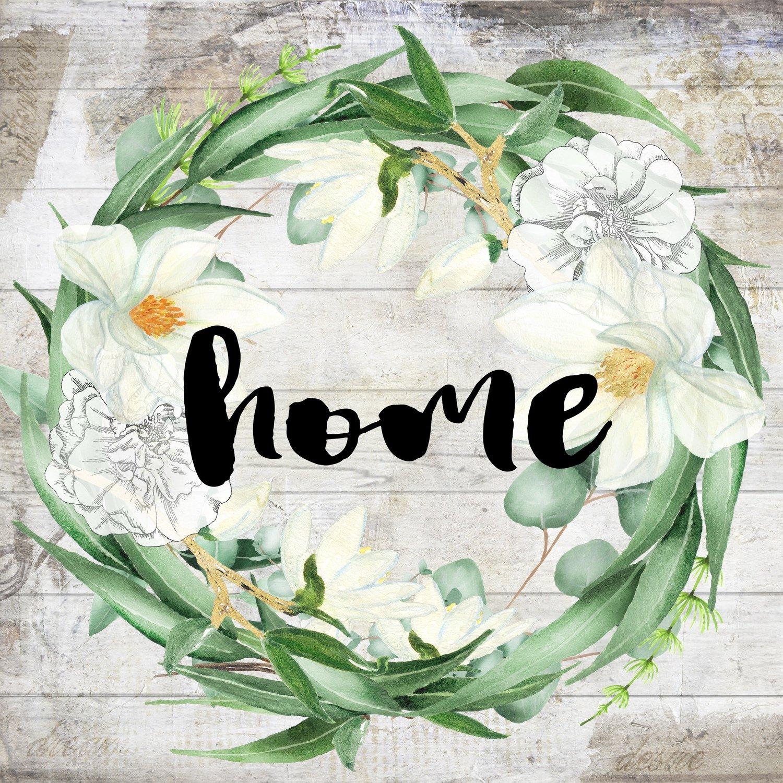 """Home"" eucalyptus wreath"