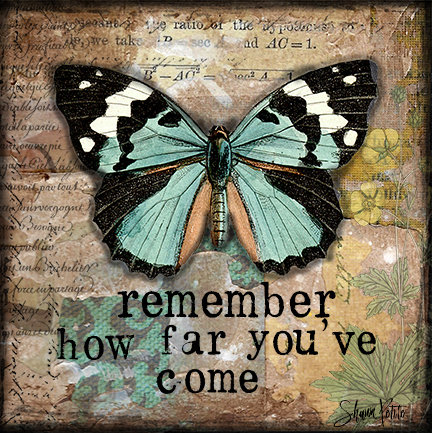 """""""Remember how far you've Come"""" Print on Wood and Print to be Framed"""