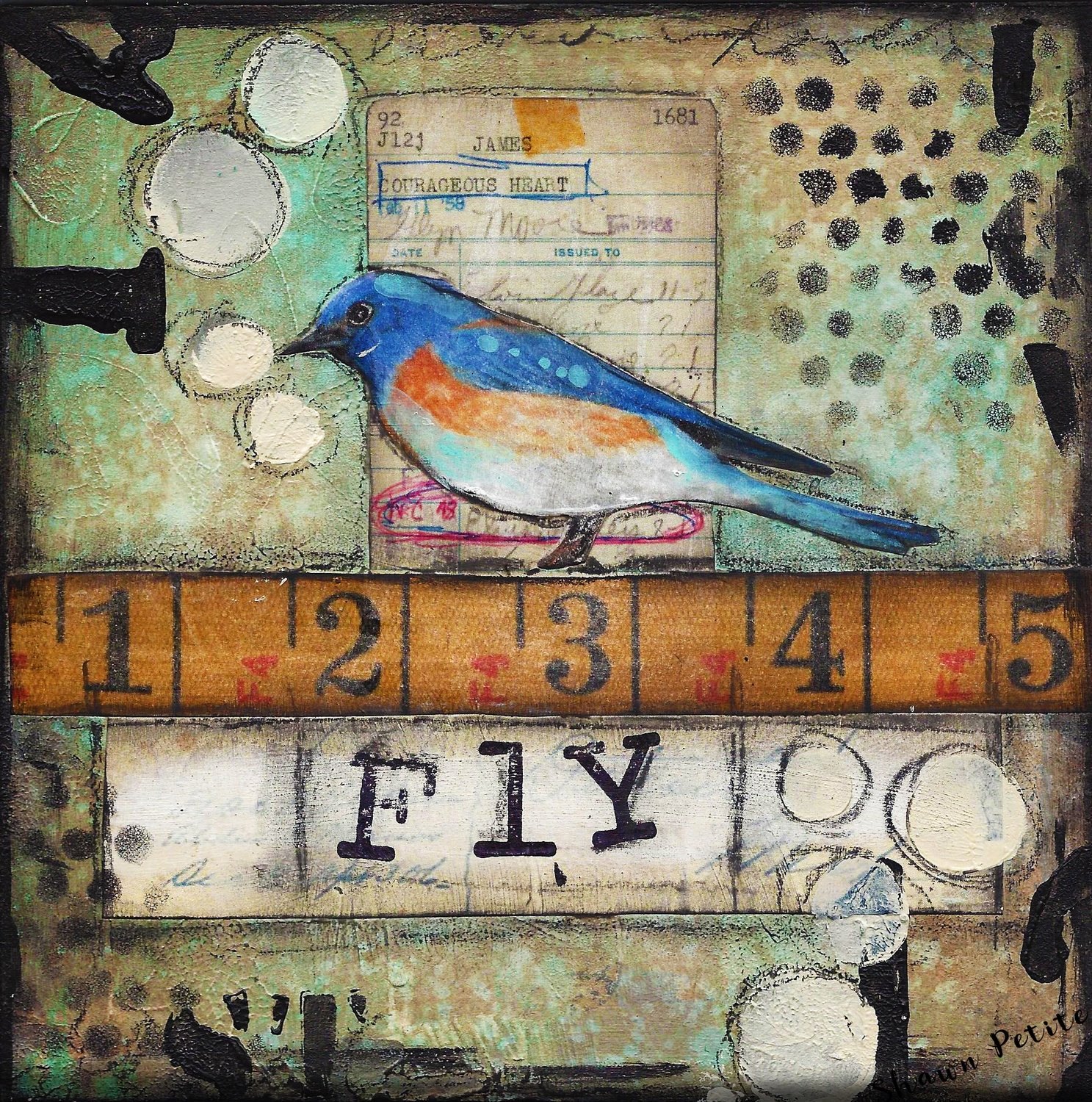 """Fly bird"" Print on Wood and Print to be Framed"