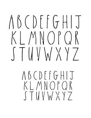 Skinny font