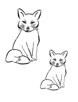 Woodland creatures Fox