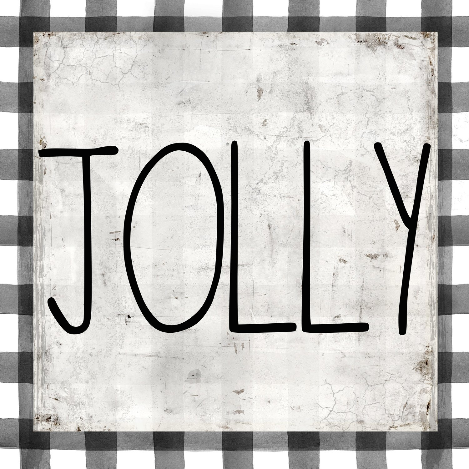 """Jolly"" black and white plaid"