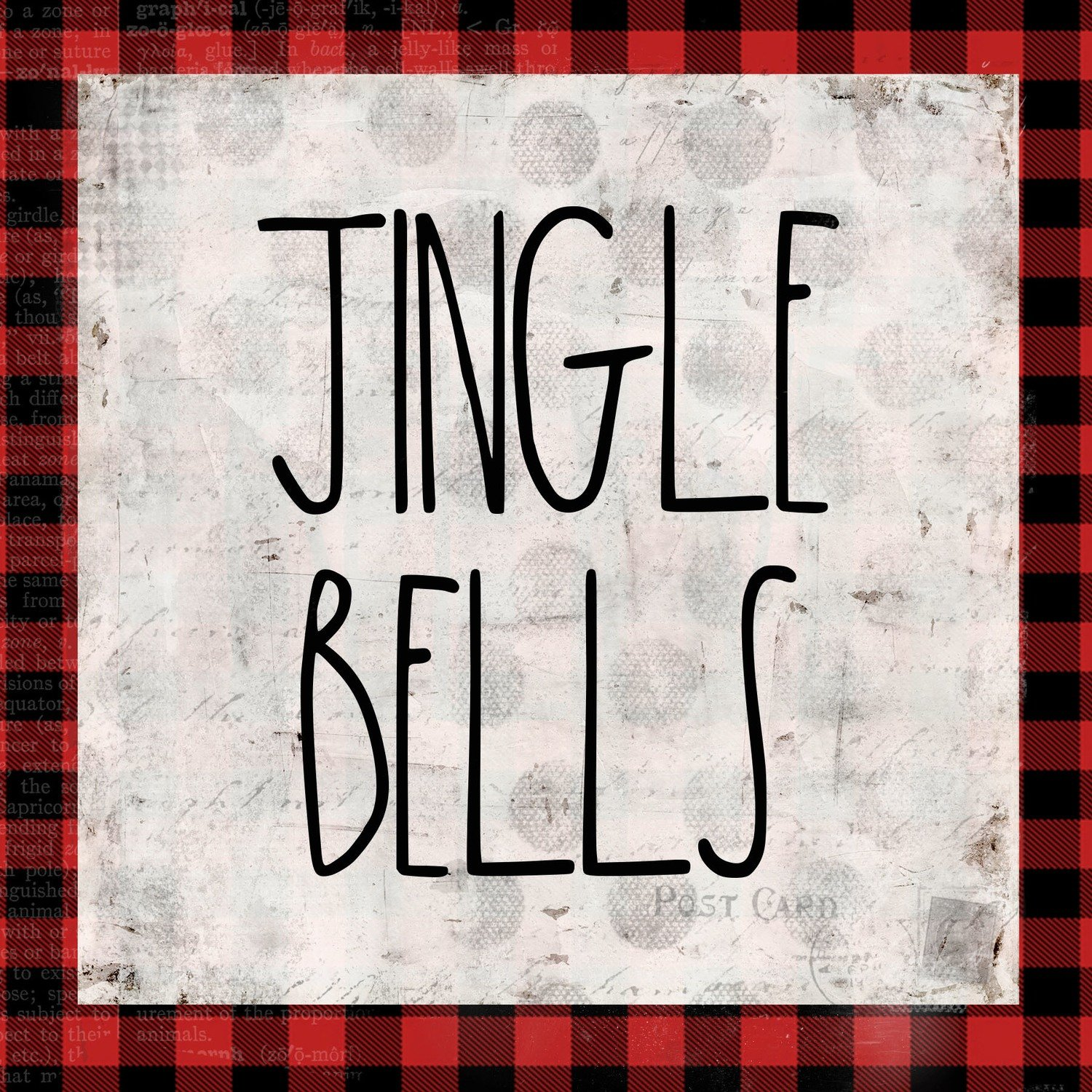"""Jingle Bells"" red plaid"