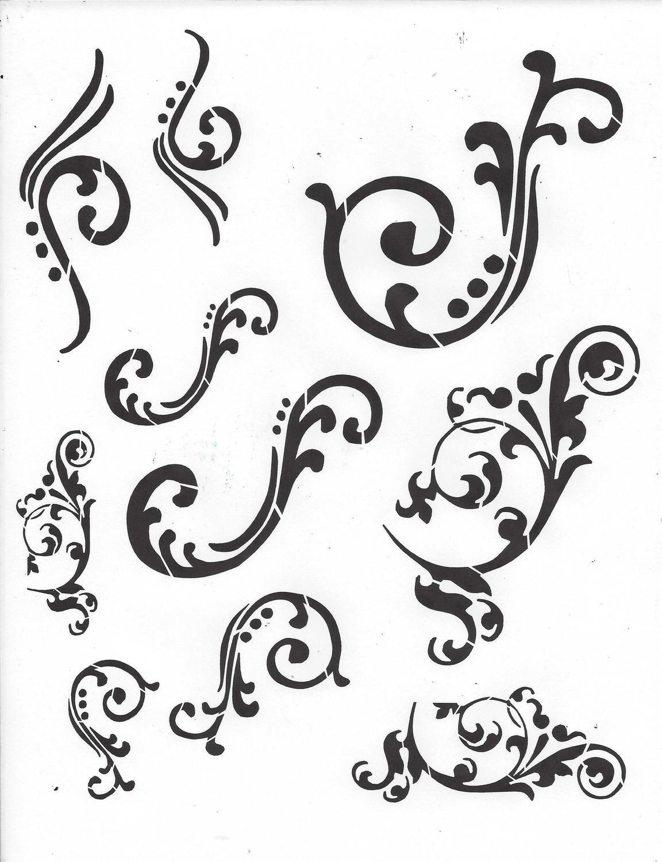 Flourish Stencil
