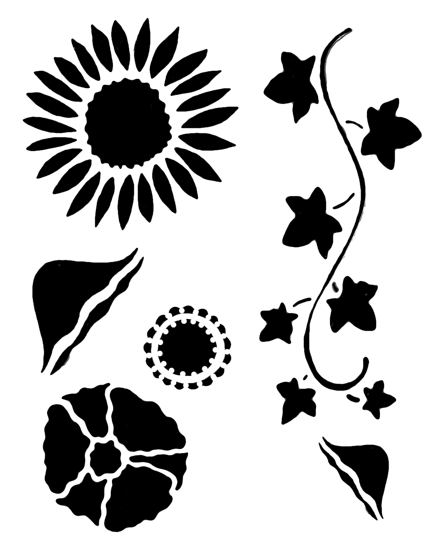 Flower gang 2 stencil