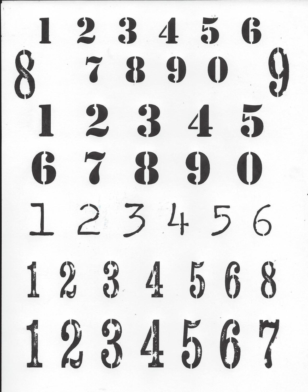 Numbers 1 Stencil 8x10