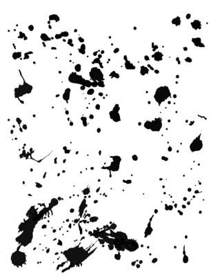 Splatters stencil
