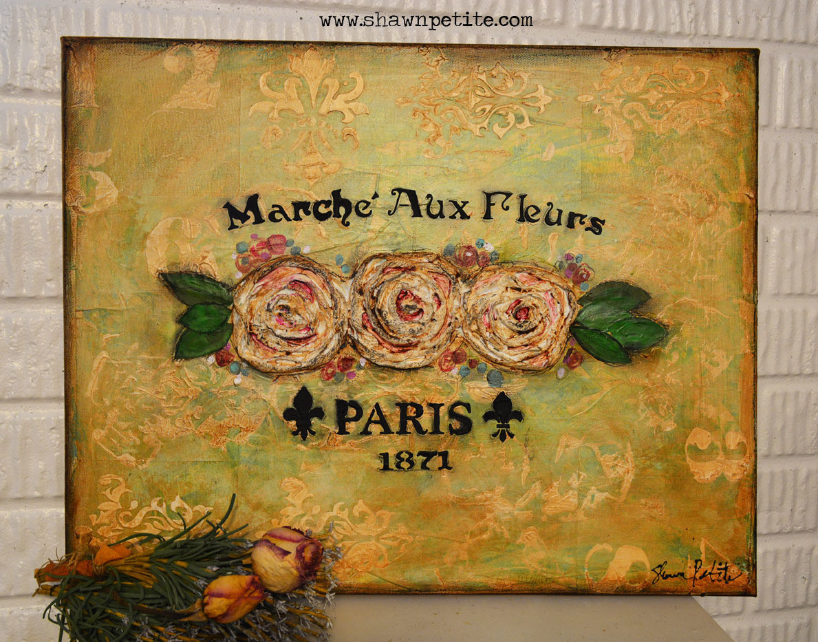 """Paris"" Flowers 20x16 Original Clearance"