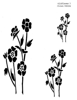Wildflower 3 stencil