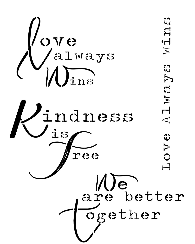 Love always wins Stencil