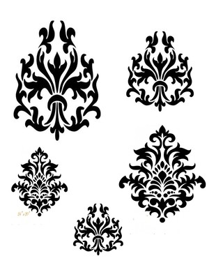 Damask Duo Stencil
