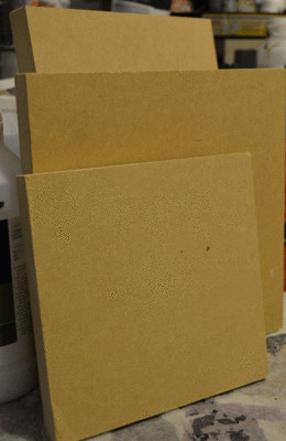 Mdf wood panels 6x6 or 5x7 pack of 4
