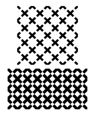 Criss Cross stencil