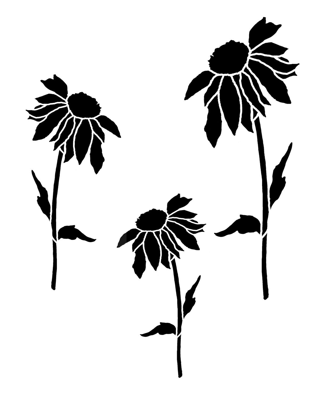 Daisy 1 stencil 8x10