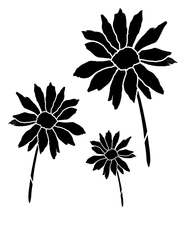 Daisy 2 stencil