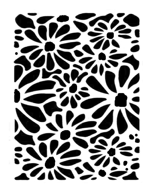 Daisy 3 stencil 8x10