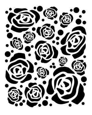 Large Roses stencil 8x10
