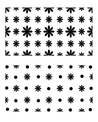 Little Flowers stencil