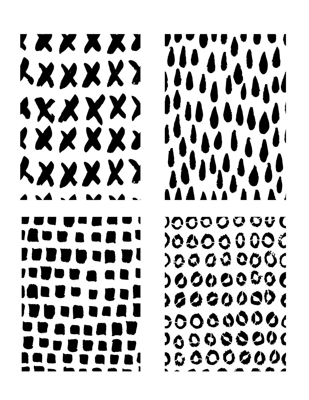 Scribble Marks 1 stencil 8x10